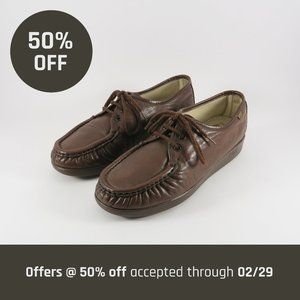 SAS Siesta Leather Lace Up Loafers | 8.5